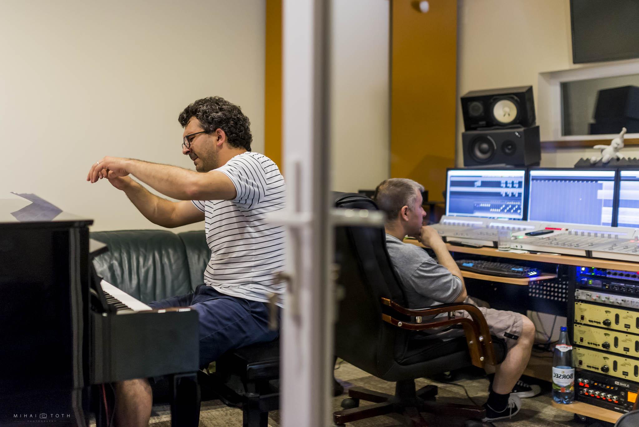 Working in the recording studio