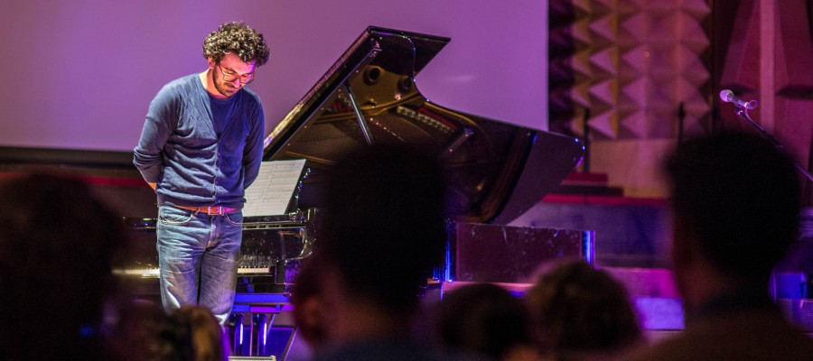 Pianist Teo Milea performing at Timisoara Philharmonic Hall | New Album Release 'Open Minds' (2016)