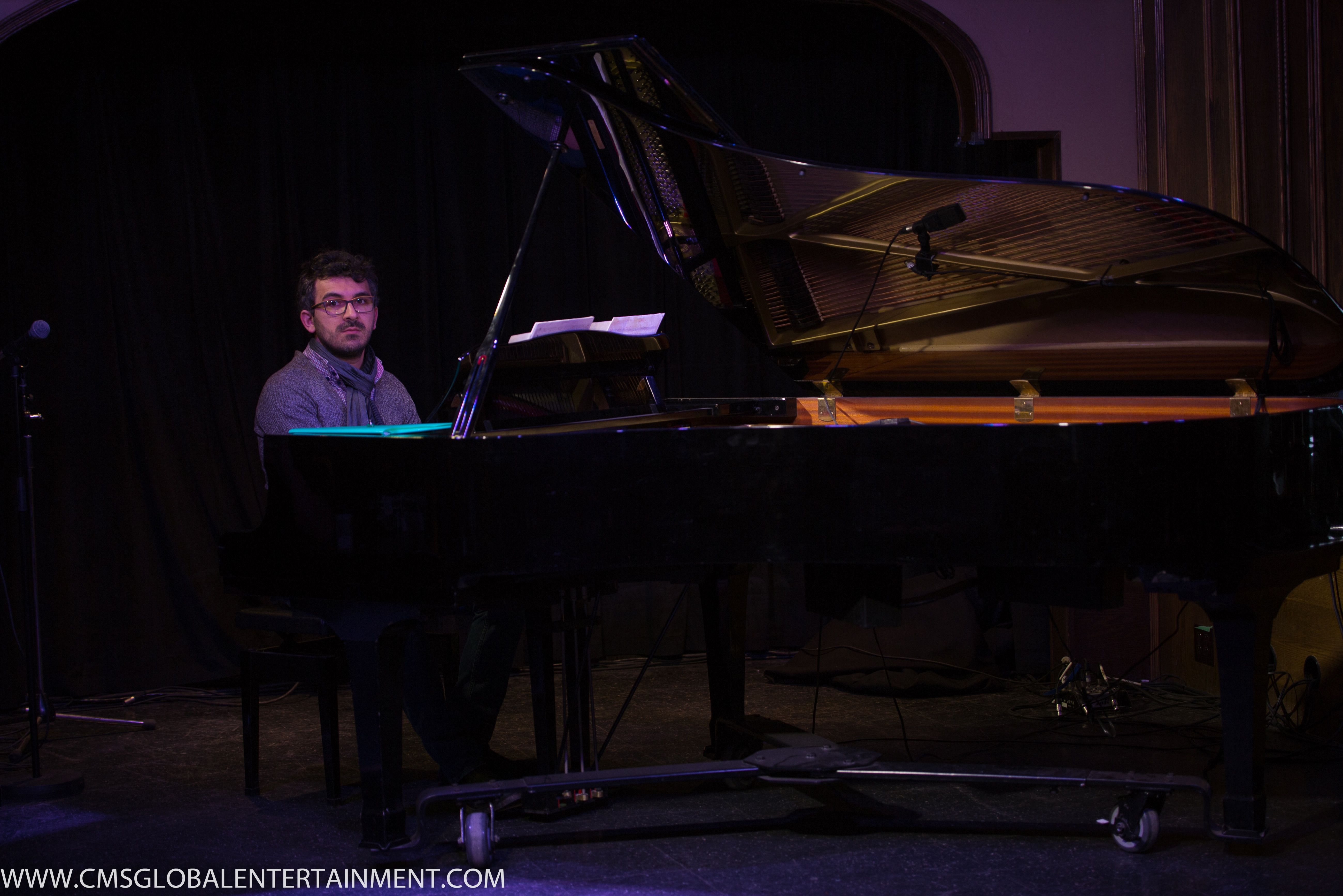 Pianist Teo Milea performing in Waterloo (Canada, 2016)