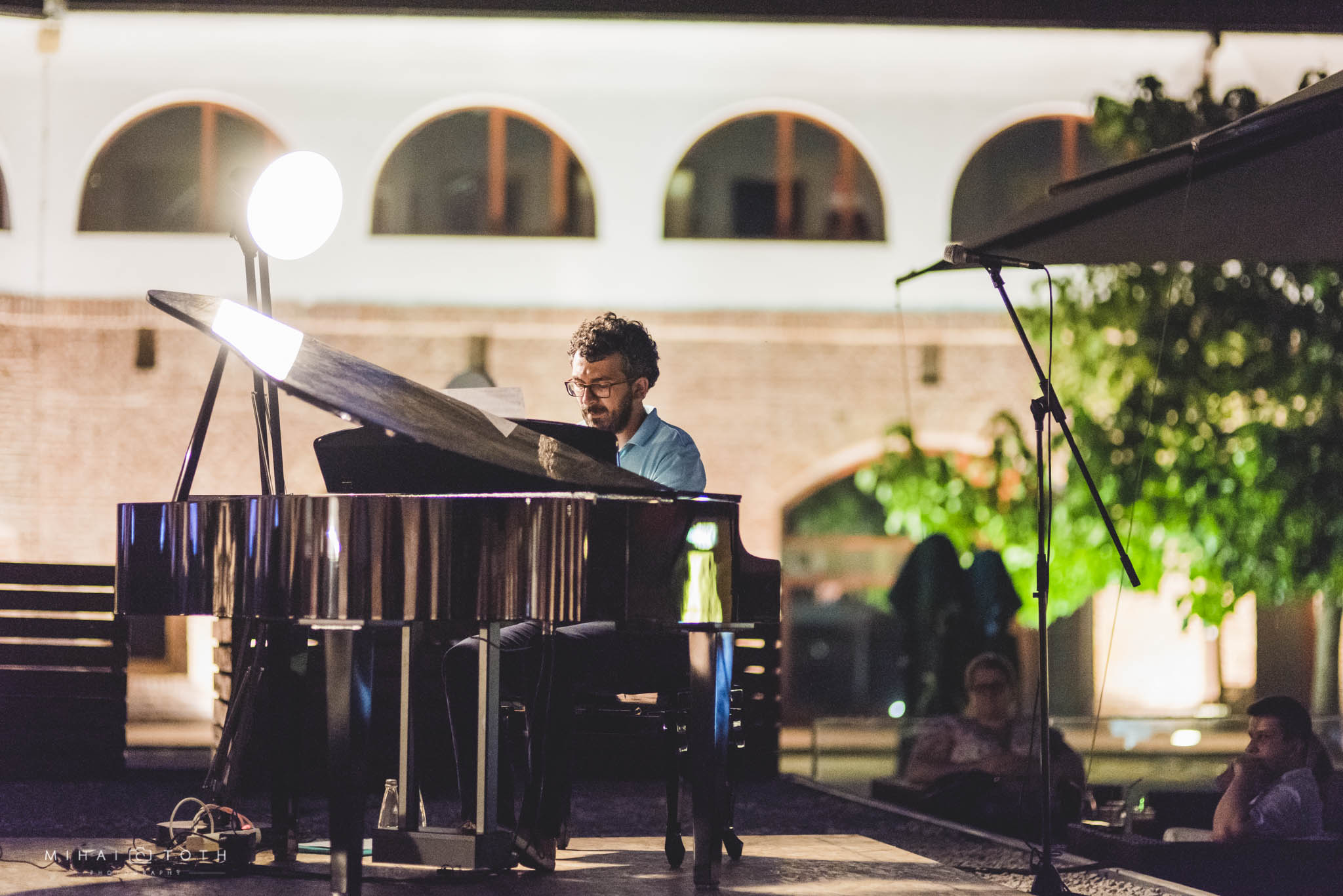 Pianist Teo Milea performing at Timisoara (Romania, 2016)